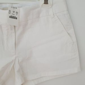 J Crew 3 1/2 Inch Chino Shorts in White NWT